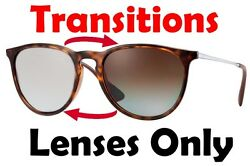 TRANSITIONS BROWN RB4171 Erika Anti Glare Replacement Lens Ray Ban 54mm Round