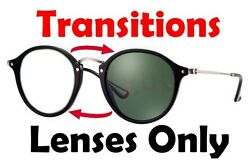 TRANSITIONS GREY RB2447 Round Fleck Anti Glare Replacement Lens Ray Ban 49mm New
