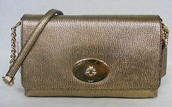 NWT Coach Crosstown Crossbody In Polished Pebble Leather in Dull Gold #36335 $139.00