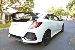Fit 16-up Honda Civic 5dr Hatchback Type R Style Abs Plastic Rear Trunk Spoiler