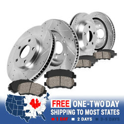 Front+rear Drill Brake Rotors And Ceramic Pads For 2013 - 2015 2016 Ford Escape