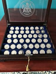 The Danbury Mint U.s. Presidential Silver Commemoratives - 44 One Troy Ounce