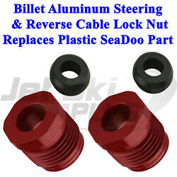 Seadoo Alloy Steering And Reverse Cable Lock Nut W Seals Gtx Rxp Rxt Gti Gts Xp