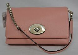 NWT Coach Crosstown Crossbody In Polished Pebble Leather in Blush Pink #53083 $139.00