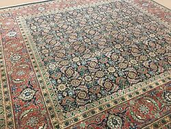 5and039.11 X 6and039.1 Square Navy Blue Fine Quality Geometric Oriental Rug Hand Knotted