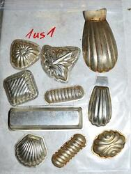 Antique German Small Tin Vintage Candy Molds/ Tart Molds 1us1