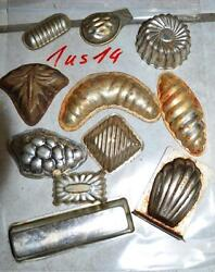 Antique German Small Tin Vintage Candy Molds/ Tart Molds 1us14