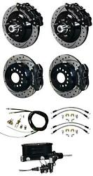 Wilwood 67-69 Camaro 4 Wheel Disc Big Brake Kit Drilled Rotor Black Caliper