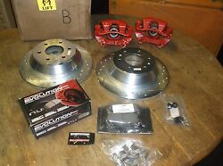 New Brake Rotors/pads/calipers Ar8647x Bc140053 Z23-883 Complete Set