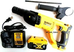 New Dewalt Dch133 20v Sds 1 Rotary Hammer Drill,1 Dcb204 4.0 Battery, Charger