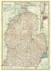 Michigan. South Inset Detroit, St Clair River 1903 Old Antique Map Plan Chart