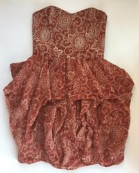 Nwt Women's French Connection Strapless Wonder Flower Dress-retail 228