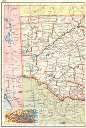 New South Wales West. Counties. Railways. Inset Sydney. Australia 1920 Old Map