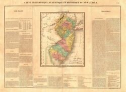 New Jersey Antique State Map. Counties. Buchon 1825 Old Plan Chart