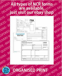 Personalised Ncr Customers Design A5 A4 A3 Duplicate Pads Or Books Printing