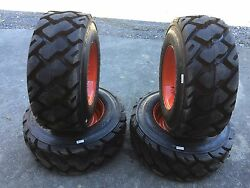 4-12-16.5 Ultra Guard MX Skid Steer TiresWheelsRims for Bobcat 14 PLY-USA