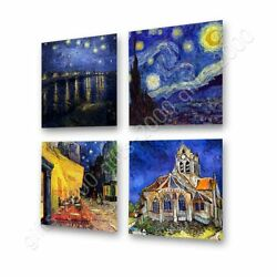 Starry Night Rhone Church Cafe By Vincent Van Gogh   Canvas Rolled   Wall Art