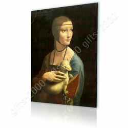 Lady With An Ermine By Leonardo Da Vinci | Canvas Rolled | Wall Art Picture
