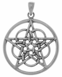 Jewelry Trends Sterling Silver Mystical Ringed Star Pentacle Pendant