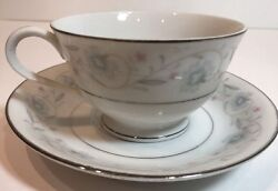 English Garden Set Of 4 Cups And Saucers Fine China Of Japan 1221