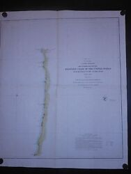 Western Coast United States 1851 Map Monterey California Columbia River H Color