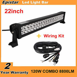 22inch 120w Led Combo Work Light Bar Off Road Suv Ute Ford With Wiring Harness