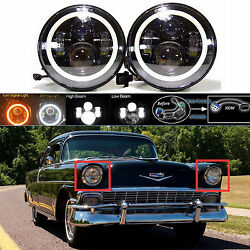 7 Led Headlight Drl Hi Lo Beam Headlamp For Chevy Truck 1947-1957 And 1962-1972