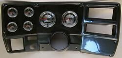 73-83 Gm Truck Carbon Dash Carrier W/ Auto Meter American Muscle Gauges