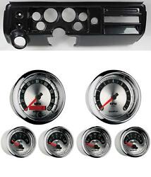 68 Chevelle Carbon Dash Carrier W/ Auto Meter 3-3/8 American Muscle Gauges