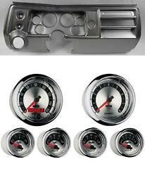 68 Chevelle Silver Dash Carrier W/ Auto Meter 3-3/8 American Muscle Gauges