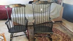 Antique Rockers Black With Gold Trim Nichols And Stone