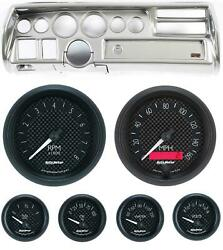70-72 Chevelle Sweep Silver Dash Carrier W/ Auto Meter Gt Gauges