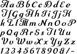 Alphabet Letter Stencil 171 A - Z And Numbers 2 3 4 5 Or 6cm Sizes Free Post