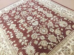 8'.3 X 10' Red Traditional Floral Oriental Rug Fine Ziegler Hand Knotted Wool
