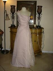 NWT RosePink Single Strap Designer PromBridesmaidsFormalParty Gown 34