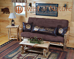 Rustic Log Futon Available In 3 Sizes Love Seat Full And Queen