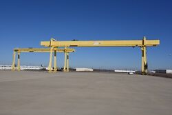 NORTH AMERICAN INDUSTRIES 90T45T GANTRY CRANES WITH 985' RUNWAY 171' SPAN