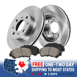 Front Disc Brake Rotors And Ceramic Pads For 2012 2013 2014 - 2017 Nissan Versa