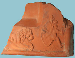 Roman Terra Sigillata Fragment Lion And Venator - Ancient Art And Antiquities