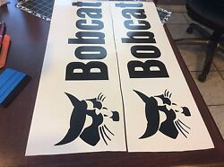 Bobcat Decal Large for rear of skidsteer 4.5 quot; X 22.5 quot; Long Black $20.00
