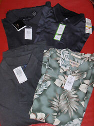 Four New Casual Mens Golf Shirts Three Med. And One Sm. With Tags Izod/dockers