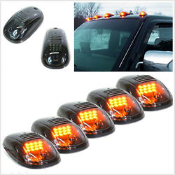 5pc Clear Amber Top Roof Led Suv Lights Truck Off Road Cab Pickup Marker Running