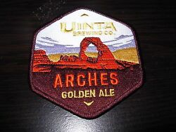 Uinta Brewing Arches Golden Ale National Park Patch Iron On Craft Beer Brewery
