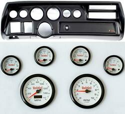 70-72 Chevelle Sweep Black Dash Carrier Concourse White Face Gauges