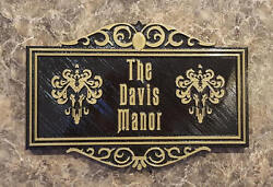 Personalized Haunted Mansion Themed Family Last Name Sign / Plaque