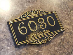 Personalized Haunted Mansion Themed Address Plaque W/ Family Name