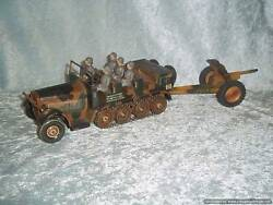 1940s Tipp And Co 9 Person Vehicle And Lineol Model 803 Gun
