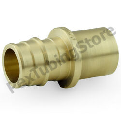25 1 Pex X 1 Male Sweat F1960 Expansion Adapter Fittings, Lead-free Brass