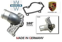 Porsche 160 Temp Thermostat W/ Housing Cover And Gasket Wahler/germany 4249.71d