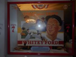1996 Whitey Ford Seagrams 7 Glass Sign